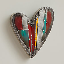 Yours Truly Heart by Anthony Hansen (Metal Wall Sculpture)