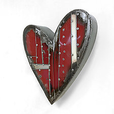 Small Red Heart by Anthony Hansen (Metal Wall Sculpture)