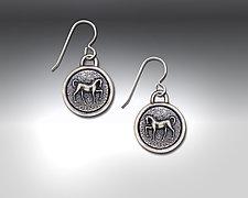 Euros Earrings by Dawn Estrin (Pewter Earrings)