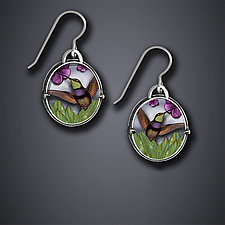 Summer's Hum by Dawn Estrin (Silver Earrings)