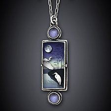White Midnight Necklace by Dawn Estrin (Silver & Stone Necklace)