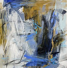 Blue Moon 1 by Debora  Stewart (Acrylic Painting)