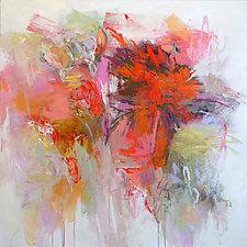 Summer Garden by Debora  Stewart (Acrylic Painting)