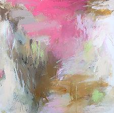 Pink Flowers 2 by Debora  Stewart (Acrylic Painting)