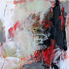 Red Abstraction 2 by Debora  Stewart (Acrylic Painting)