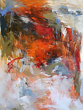 Red Slope by Debora  Stewart (Acrylic Painting)