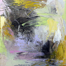 Abstract with Green I by Debora  Stewart (Acrylic Painting)