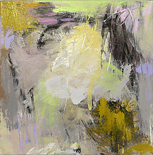 Abstraction with Green II by Debora  Stewart (Acrylic Painting)