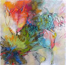 Tulips and Bleeding Hearts 3 by Debora  Stewart (Pastel Painting)