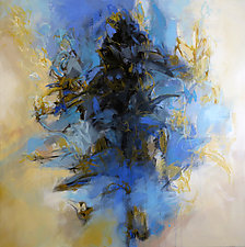 Blue Salvia by Debora  Stewart (Acrylic Painting)