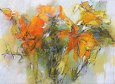 Daylily Garden by Debora  Stewart (Pastel Painting)