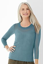 3/4 Sleeve Cotton Mesh Tee by Cynthia Ashby (Mesh Top)