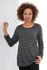 Blurry Stripe Tee by Cynthia Ashby  (Knit Top)