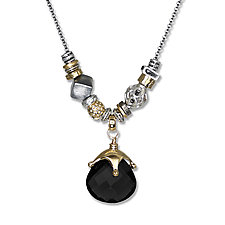 Black Onyx Elements Necklace by Suzanne Q Evon (Gold, Silver & Stone Necklace)
