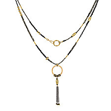 Spinel and Gold Tassel Necklace by Suzanne Q Evon (Gold & Stone Necklace)