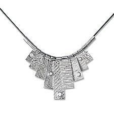 Nine Tab Necklace by Suzanne Q Evon (Gold, Silver & Stone Necklace)