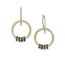 Circle of Life Earrings by Suzanne Q Evon (Gold & Silver Earrings)