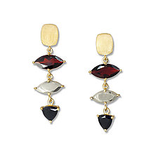 Gemstone & Gold Earrings by Suzanne Q Evon (Gold, Silver & Stone Earrings)