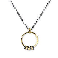 Circle of Life Necklace by Suzanne Q Evon (Gold & Silver Necklace)