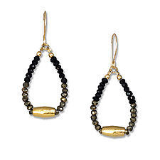 Spinel and Gold Earrings by Suzanne Q Evon (Gold & Stone Earrings)