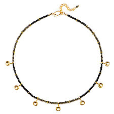 Spinel and Gold Water Cast Necklace by Suzanne Q Evon (Gold and Stone Necklace)