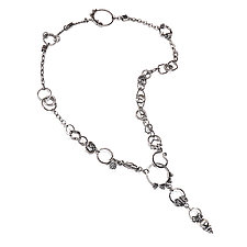 Oxidized Silver Plumb Bob Treasure Necklace by Suzanne Q Evon (Silver Necklace)