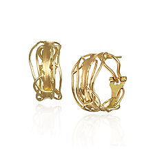 Gold Edge Post Earrings by Suzanne Q Evon (Gold Earrings)