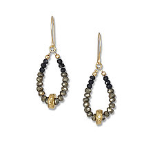 Spinel and Gold Water-Cast Earrings by Suzanne Q Evon (Gold & Stone Earrings)