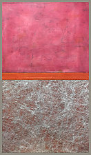 PinkOrangeGray by Joan Gold (Acrylic Painting)