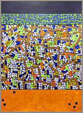 Blue Green Orange by Joan Gold (Mixed-Media Painting)