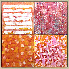 OrangePink by Joan Gold (Acrylic Painting)