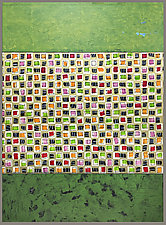 Green Gamut by Joan Gold (Mixed-Media Painting)