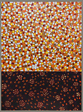 Orange Red by Joan Gold (Mixed-Media Painting)