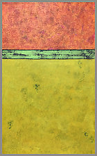 OrangeGreenYellow by Joan Gold (Acrylic Painting)