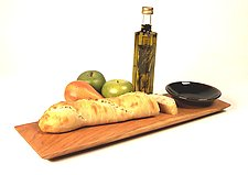 Shaker Breadboard & Dipping bowl by Desmond Suarez (Wood Serving Piece)