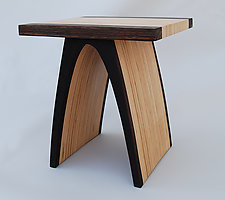 Small Arch End Table by Kerry Vesper (Wood Side Table)