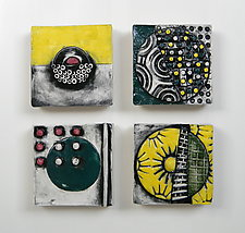 Four Moons by Regina Farrell (Ceramic Wall Sculpture)