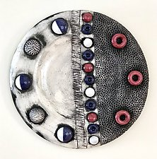 Dusk Moon by Regina Farrell (Ceramic Wall Sculpture)