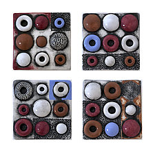 Dots and Dimples Tile Set by Regina Farrell (Ceramic Sculpture)
