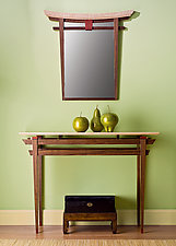 Torii Mirror and Table by Bayley Wharton (Wood Furniture)