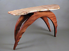 Maple in Motion by Bill Palmer (Wood Console Table)