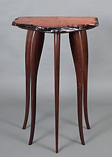 Tall, Dark, and Handsome by Bill Palmer (Wood Pedestal Table)