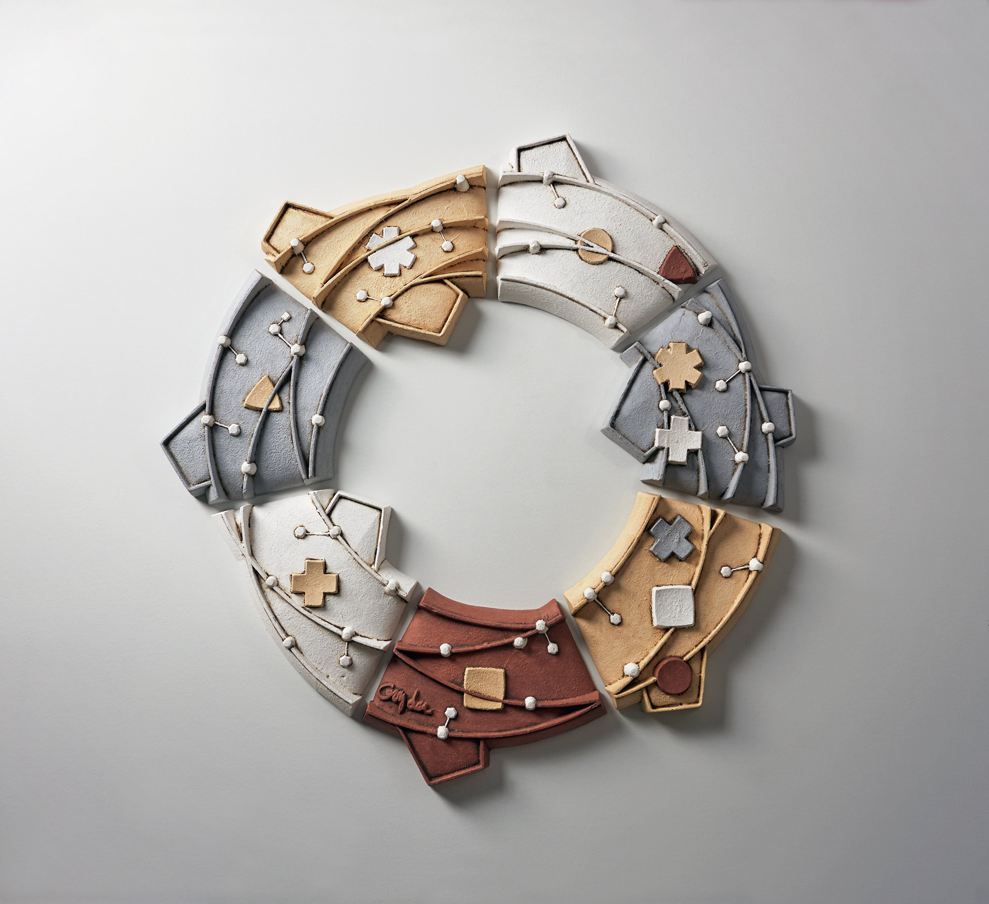 Ring coalesce by christopher gryder ceramic wall for Ceramic wall art