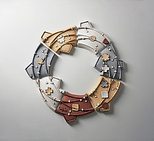 Ring Coalesce by Christopher Gryder (Ceramic Wall Sculpture)