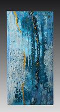 L'Esperanza e il Colore Blu (Hope is the Color Blue) by Maria Livrone (Mixed-Media Painting)