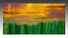 Dove la Terra Encontra il Cielo (Where Land Meets Sky) by Maria Livrone (Mixed-Media Painting)