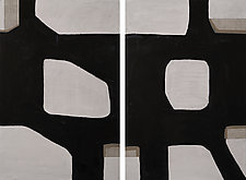 Enigma No.23 Diptych by Loren Yagoda (Acrylic Painting)