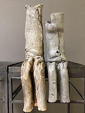 Belly Button People 5 by Loren Yagoda (Ceramic Sculpture)