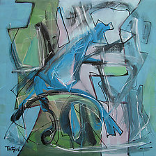 Exploration in Blues by Lynne Taetzsch (Acrylic Painting)