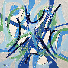 Blue Rhythms by Lynne Taetzsch (Acrylic Painting)